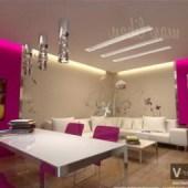 Colored Living Room Design