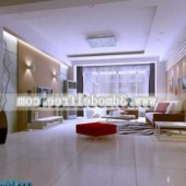 Minimalist Living Room Design Free 3dmax Model