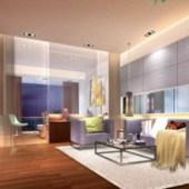 Modern Minimalist Glass Living Room
