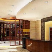 Office Curved Space Reception Interior