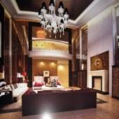 European Bustling Living Room Free 3dmax Model