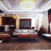 Modern Minimalist Floor-to-ceiling Windows Living Room