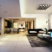 Modern Business-type Living Room 3d