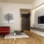 Simple Modern Small Living Room 3dmax Model Scene