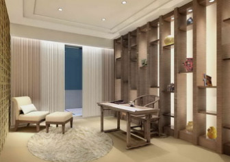 Chinese Study Room Interior Free 3dmax Model