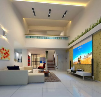 Penthouse Living Room Free 3dmax Model