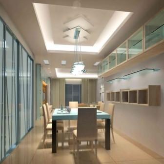Cool Colors Simple And Elegant Restaurant