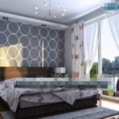 Simple Ceiling Windows Bedroom