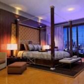 Chinese Style Elegant And Dark Bedroom