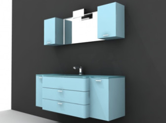 Blue With White Cabinetry