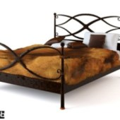 Retro Iron Bed