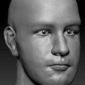 High-poly Man Head
