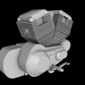 Motorbike Engine Block