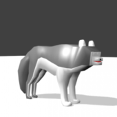 Wolf Character Lowpoly
