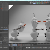 Olaf Disney Frozen  High Poly