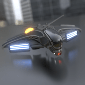 Intergalactic Spaceship In Blender 2.8 Eevee