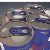 Collection Of Energy Drink Cans