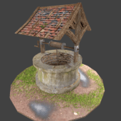 Old Well Low Polygon