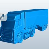 Semi Truck W Trailer Wheel V1
