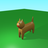 Cartoon Cat Lowpoly