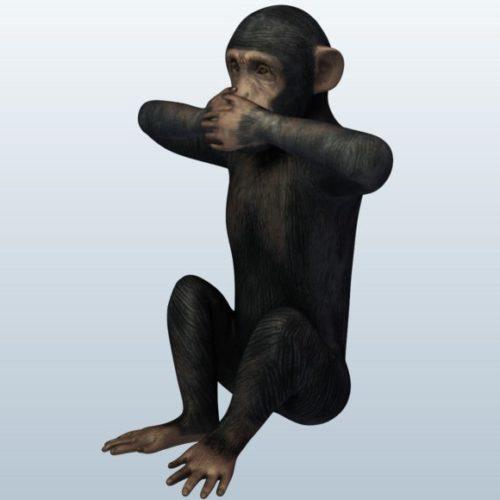 Evil Monkey Free 3D Model -  Obj,  Stl - Download 8276