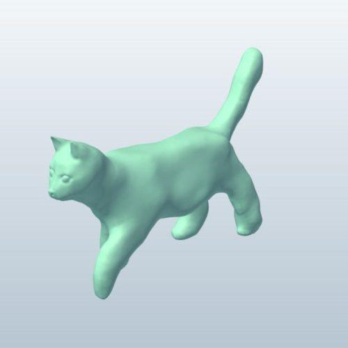 Lowpoly Cat Walking