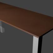 Wooden Top Table Metal Legs