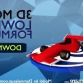 Lowpoly Formula 1 Racing Car