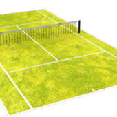 Low Poly Tennis Court
