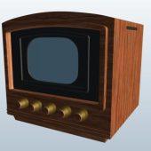 Wooden Old Television Set