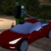 Car Tesla  3 2018