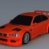 Red Bmw Racing Car