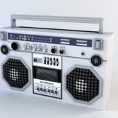 Electric Boombox Low-poly