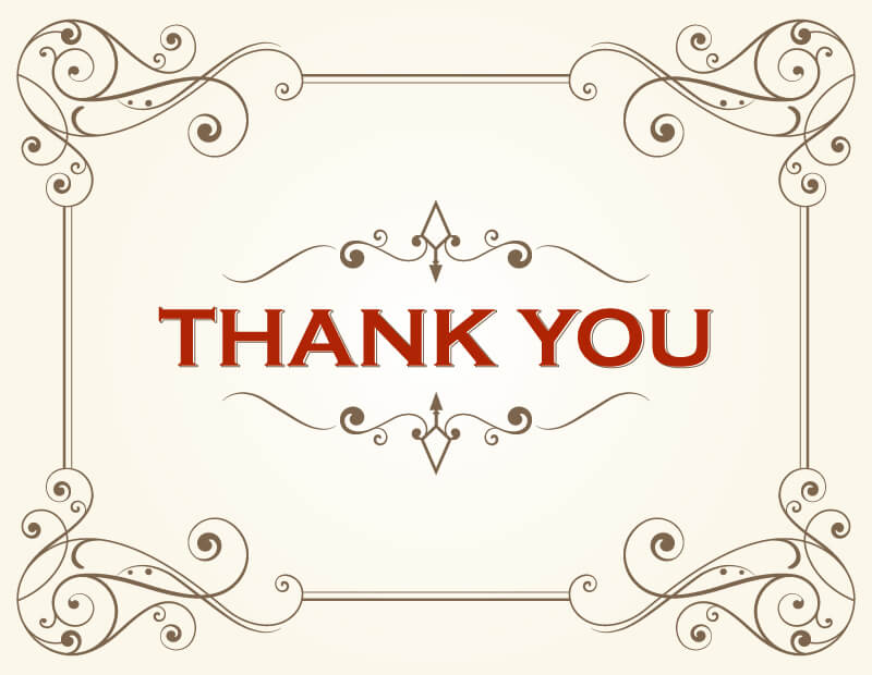 Thank You Card Template  123freevectors