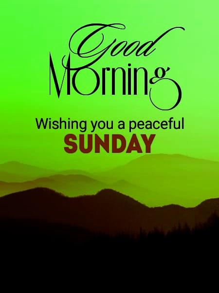 good morning sunday