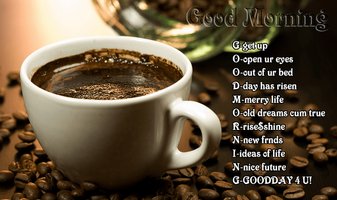 77 BEST Good Morning Wishes Messages SMS & Coffee Image
