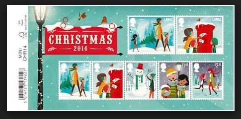 Latest Christmas Postage Stamps 2014 Australia Uk Usps