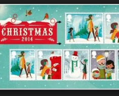 royal mail christmas stamps 2014 issue