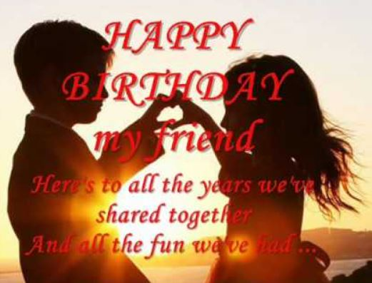 wonderful Funny happy birthday wishes to best friend poems with image
