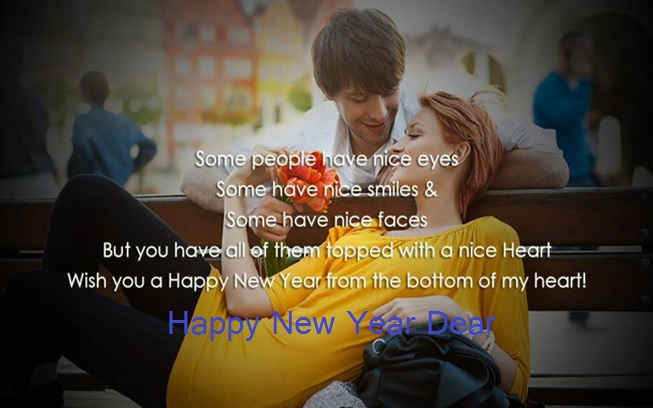 New Year Wish Quotes For Lover: Romantic New Year 2015 Wishes Images For Girl & Boy Friend