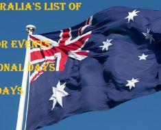 Australia Major Events CALENDAR 2015 Holidays Observances Sporting Australian Calendars of event ICC Cricket World Cup