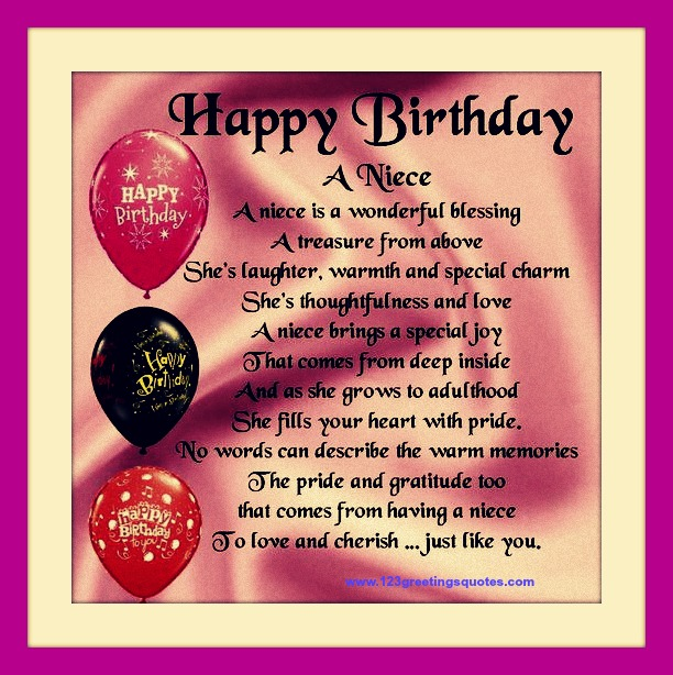 Awesome Happy Birthday Wishes For Niece (B'day Quotes