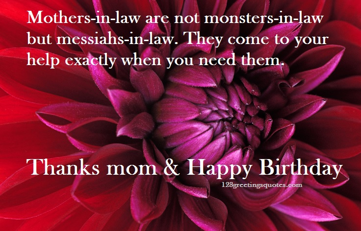 Best Mother In Law Birthday Quotes: Mother-In Law Birthday Wishes Form Son-in-law & Daughter