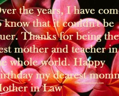 Mother-In-Law Happy birthday greetings