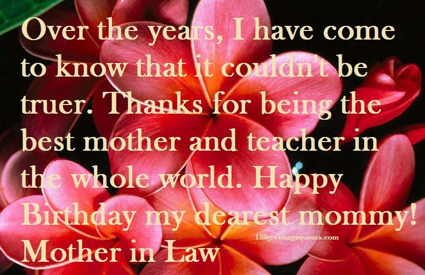 MotherIn Law Birthday Wishes form Soninlaw Daughterinlaw – Happy Birthday Greeting to Son