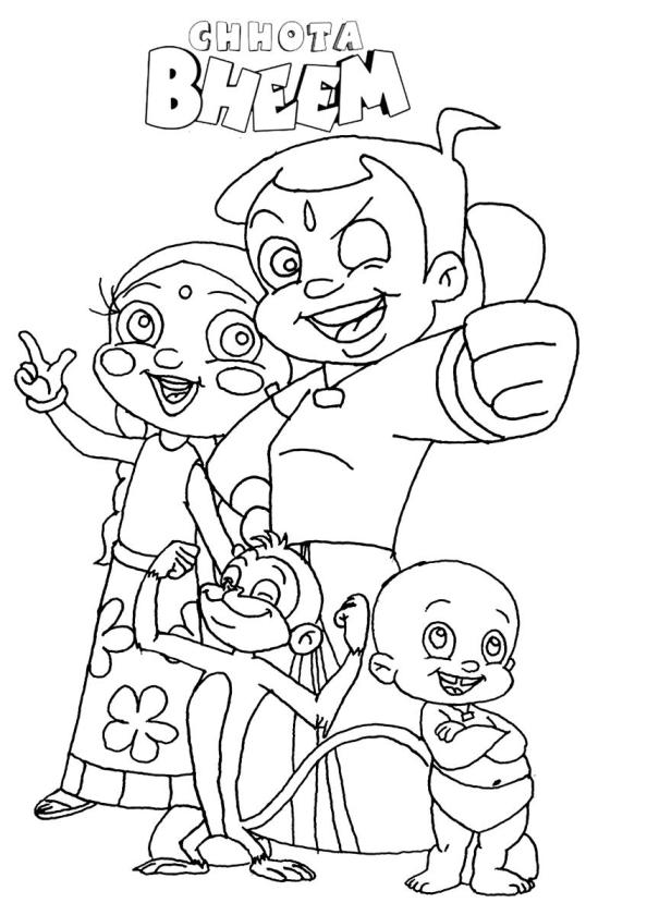 Chota Bheem Coloring pages for chldren