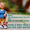 Happy New Year 2016 Messages For Teacher