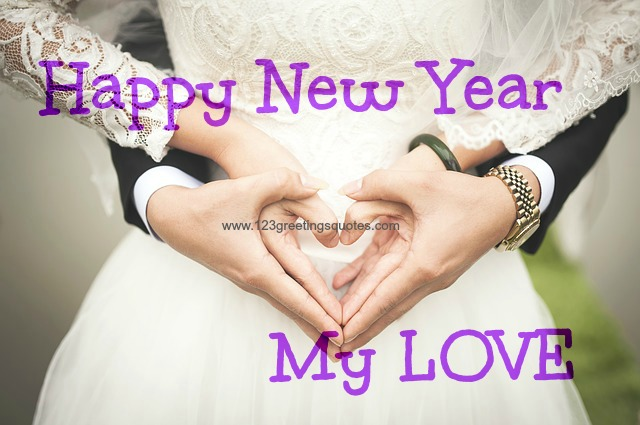 New Year wishes to Wife