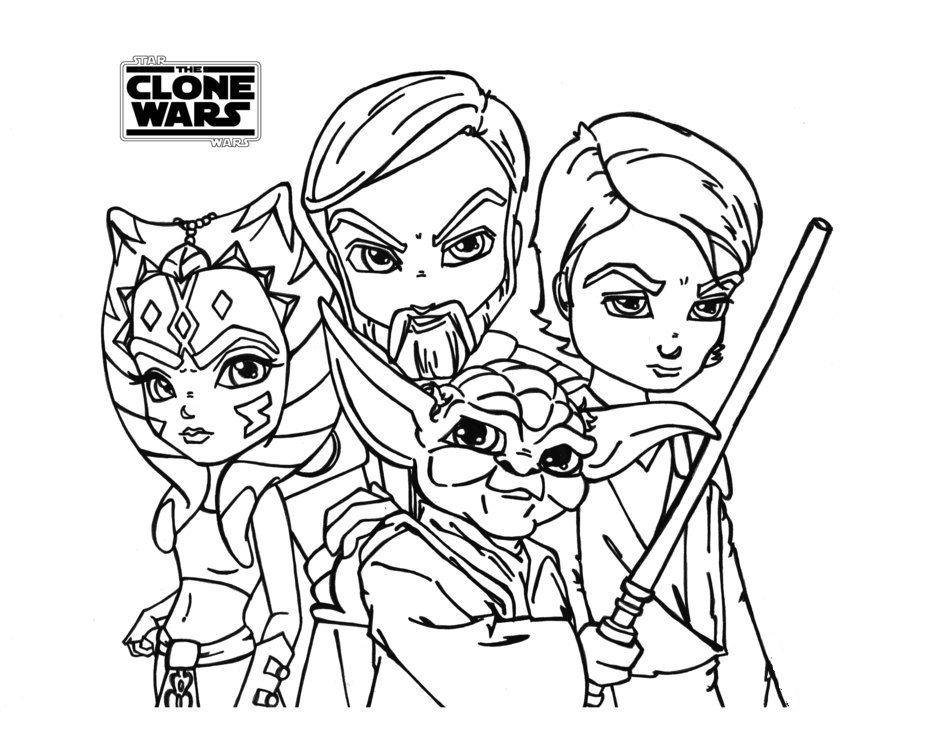 star wars the clone wars coloring pages printable