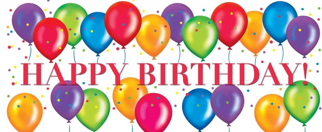 Presents Birthday Flowers Balloons Happy Cake Wallpaper